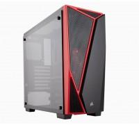 Corsair Carbide SPEC-04 CC-9011117-WW Black / Red Tempered glass ATX Mid Case